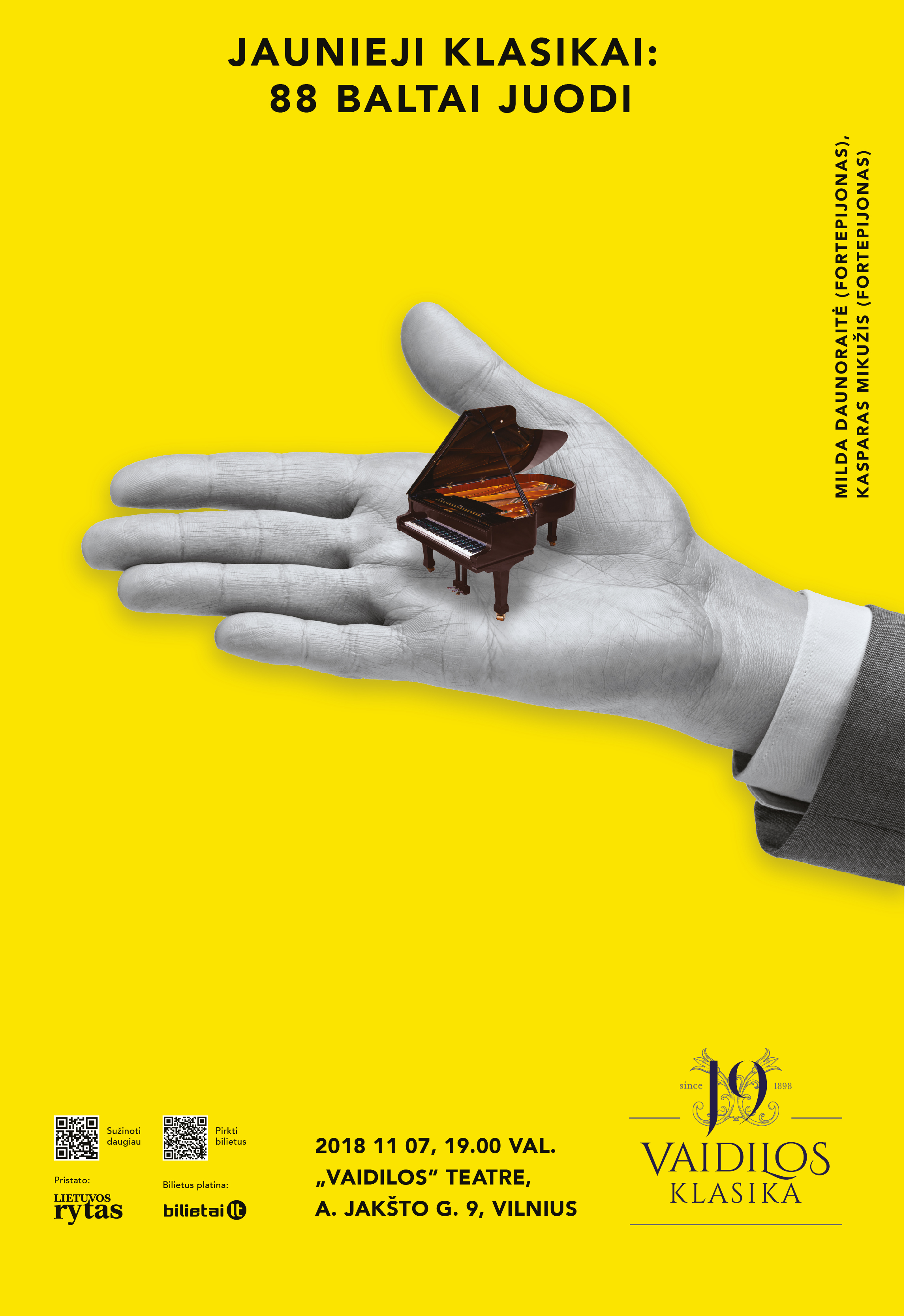 JAUNIEJI KLASIKAI: 88 BALTAI JUODI | M.Daunoraitė, K.Mikužis