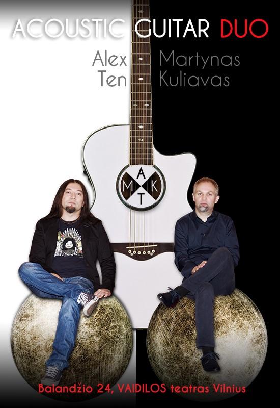 """Martynas Kuliavas ir Alex Ten """"Akustinės gitaros duetas"""