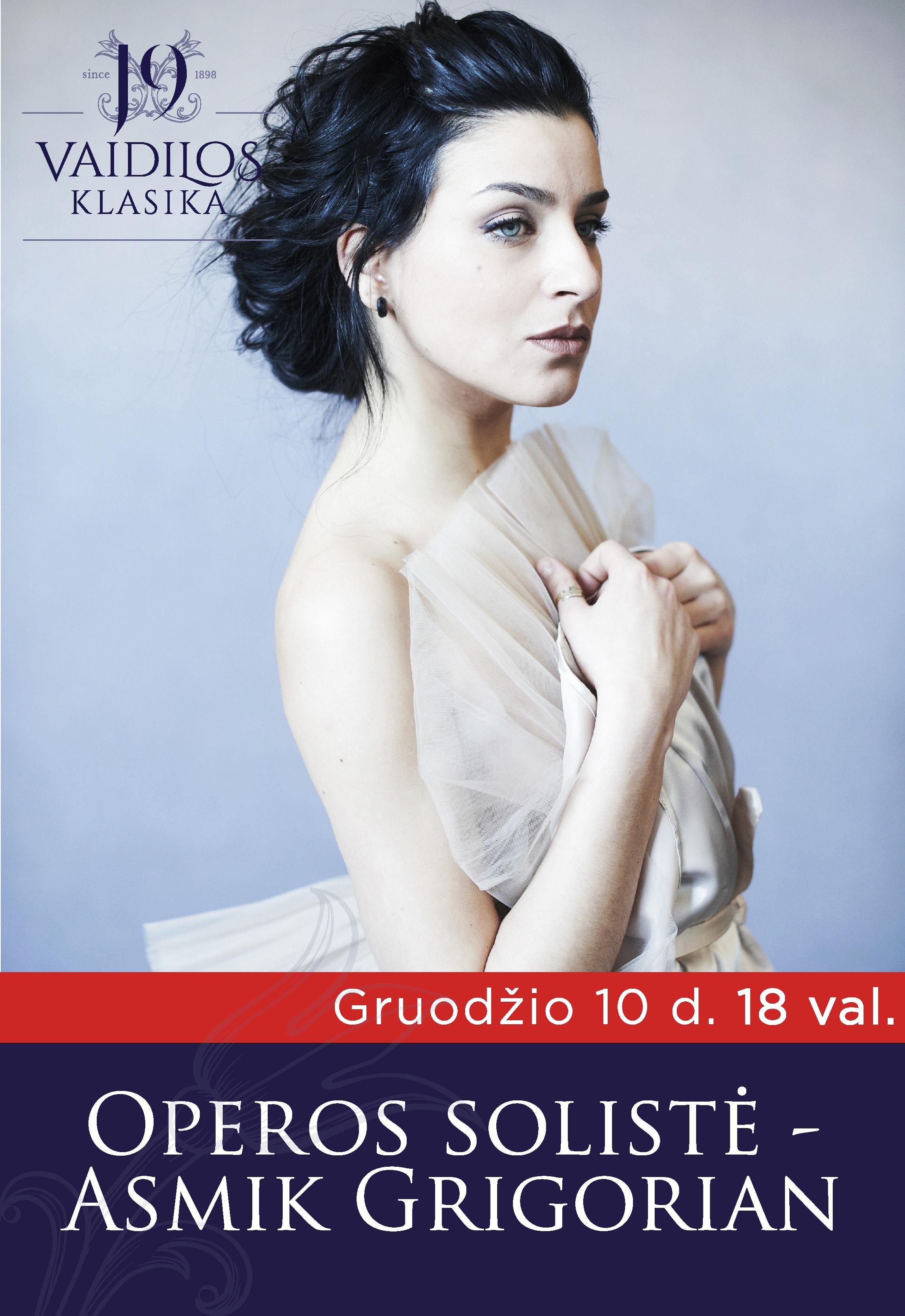 ATŠAUKTAS - Operos solistės Asmik Grigorian koncertas