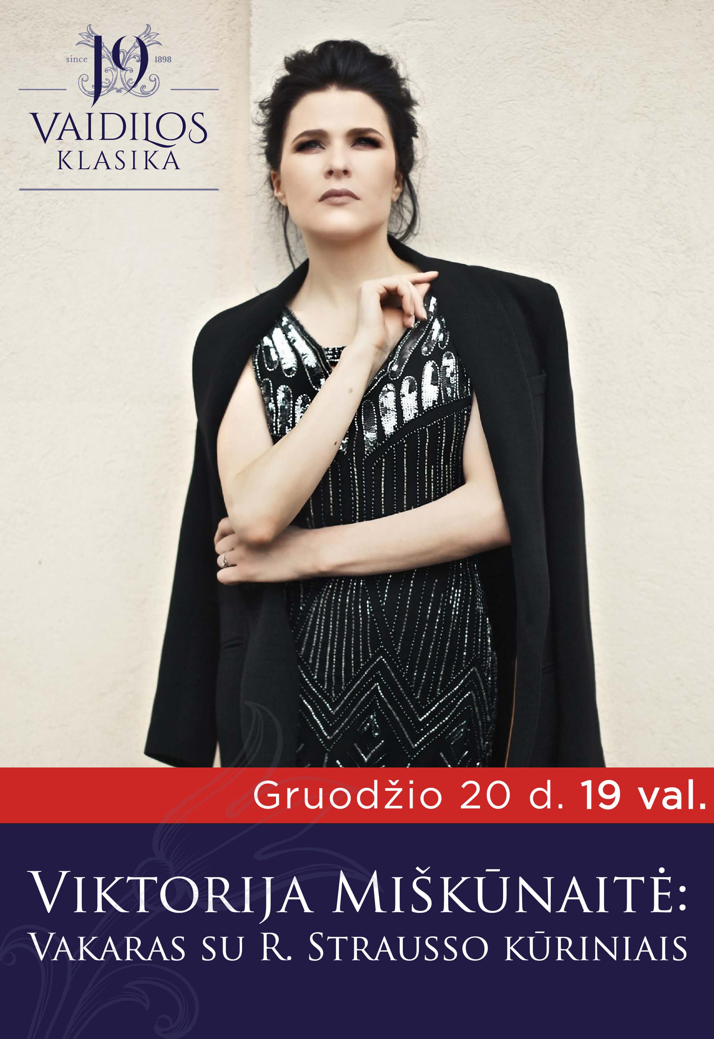 Operos solistė Viktorija Miškūnaitė: vakaras su R. Strausso muzika