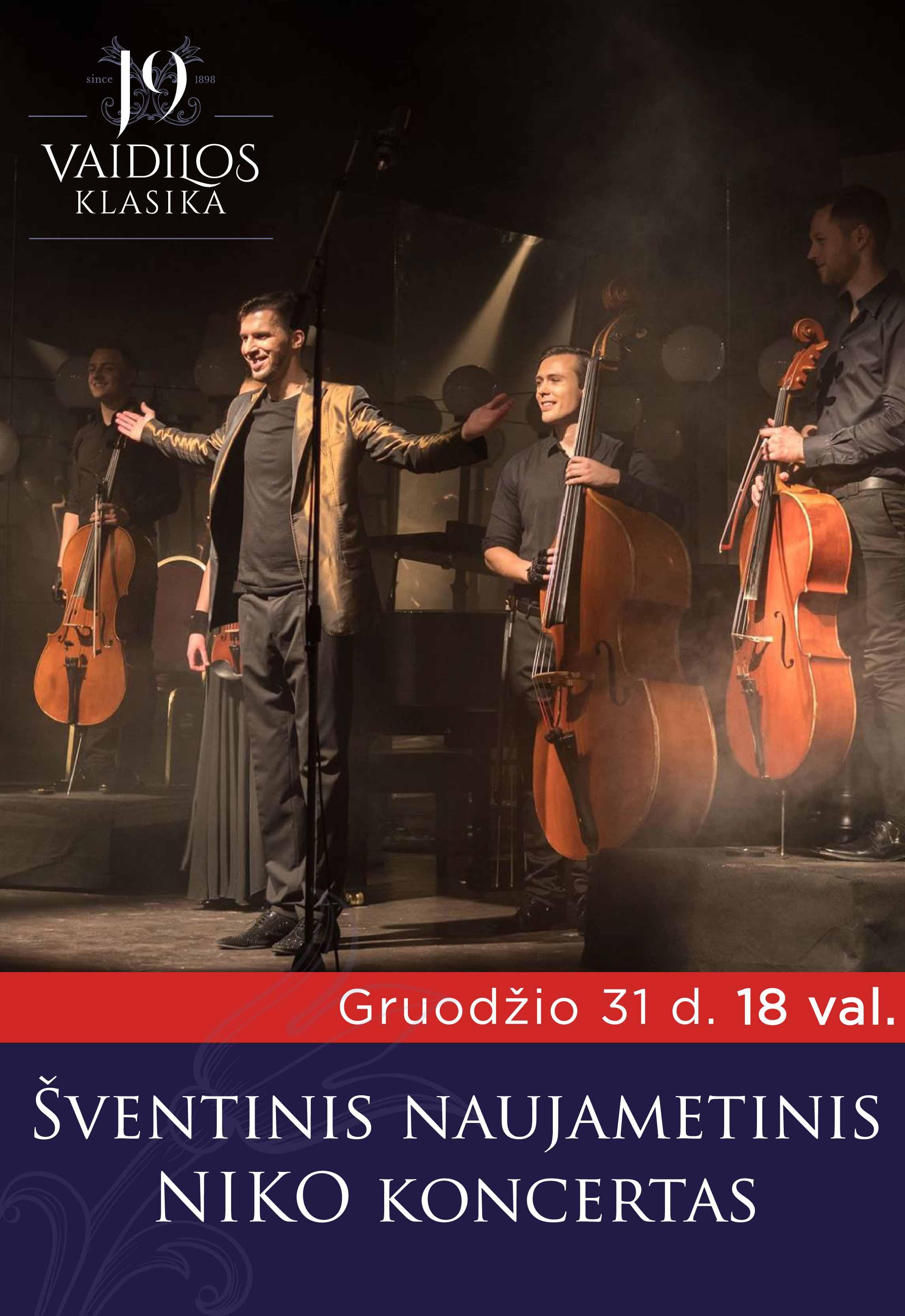 Šventinis naujametinis NIKO koncertas 18 val.
