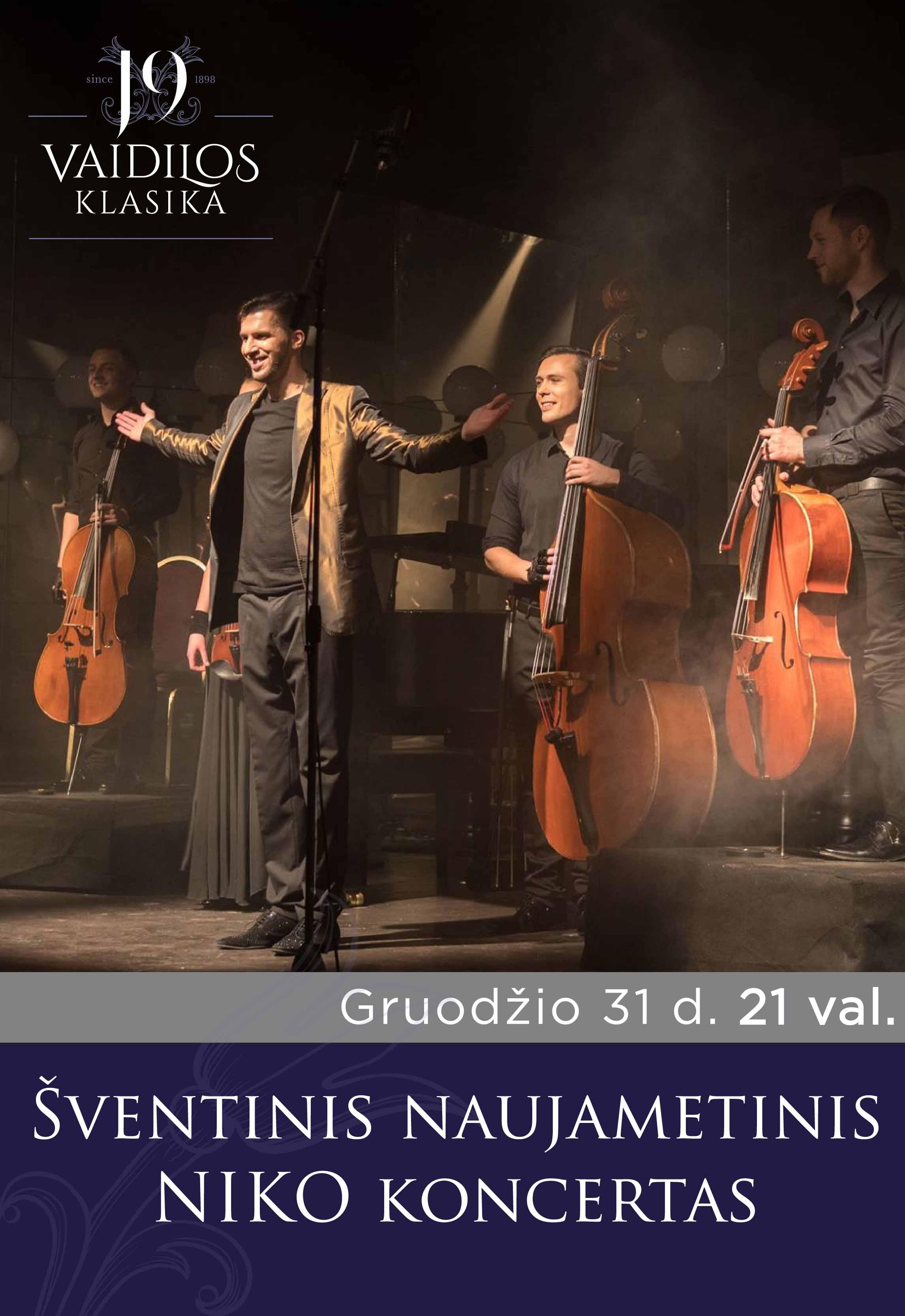 Šventinis naujametinis NIKO koncertas 21 val.